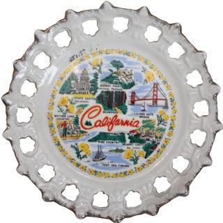 """Vintage 'California"""" Collector's Plate"""