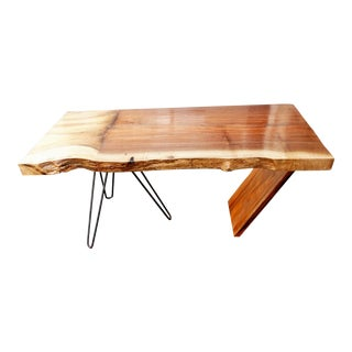 Free Edge Slab Walnut Coffee Table