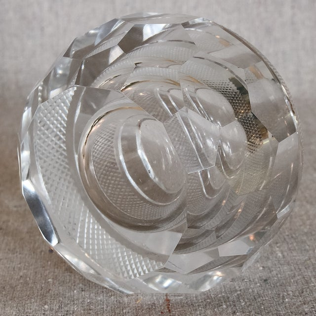 Image of Faceted Hand Cut Crystal Glass Match Striker