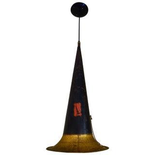1920s Gramophone Horn Pendant Light