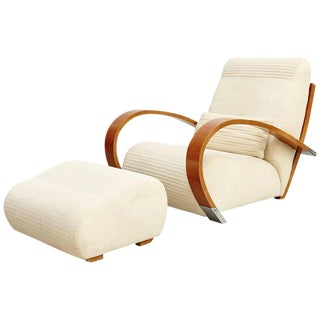 Casablanca' Armchair and Footrest by Jaime Tresserra, circa 1987