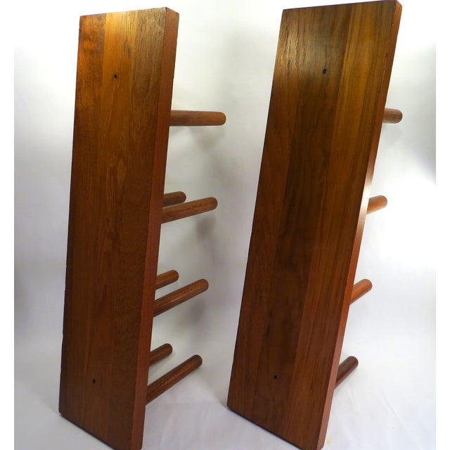 Mid Century Modern Teak Wood Wine Racks - A Pair - Image 3 of 6