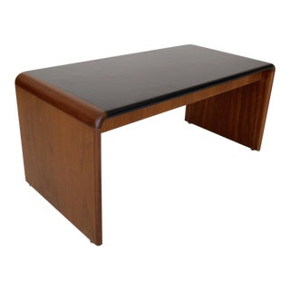 Mid-Century Teak Waterfall Edge Coffee Table