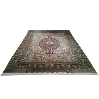 Traditional Silk Hand Knotted Rug - 9′ × 12′
