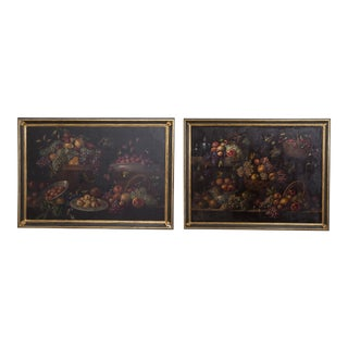 A Pair of 19th Century Framed Spanish Fruit Paintings