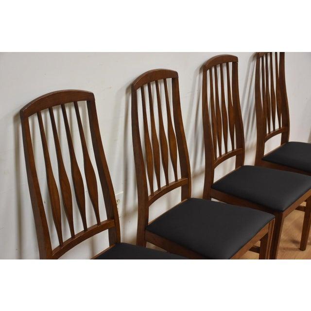 Keller Black Vinyl Dining Chairs - Set Of 4