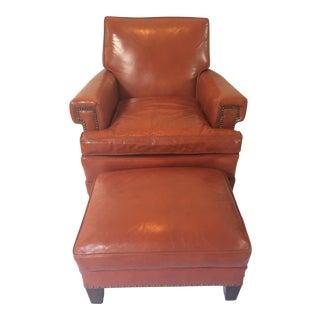 Vintage Leather Club Chair & Ottoman