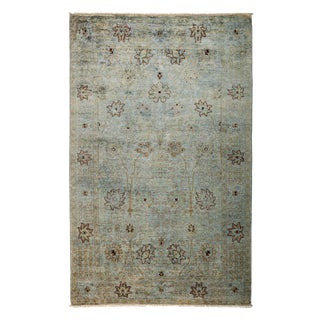 "Vibrance Over Dyed Hand Knotted Area Rug - 5'1"" X 8'1"""