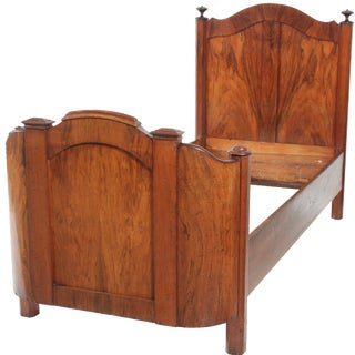 1920s French Walnut Bed