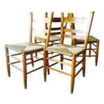 Image of Cane Ladder Back Dining Chairs - Set of 4