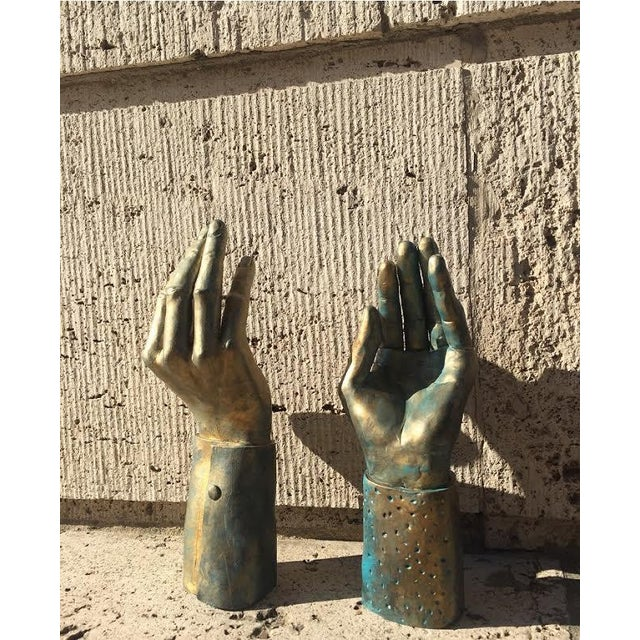 Hand-Made Sculptural Hands - A Pair - Image 2 of 8