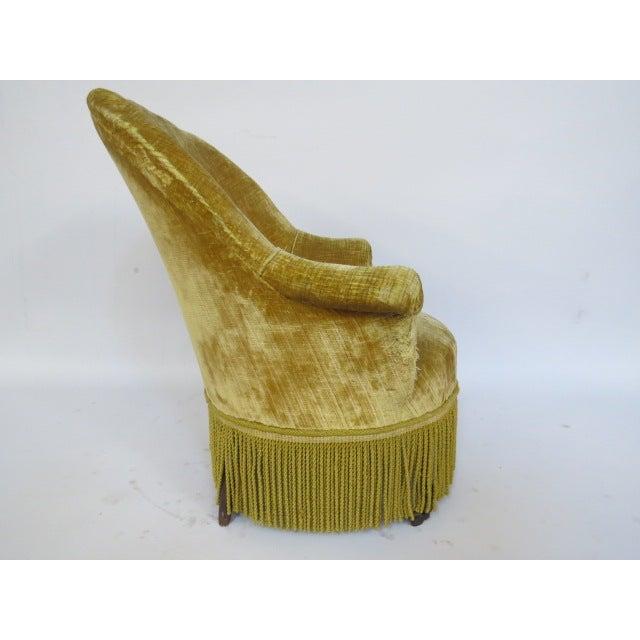Image of 1940's light Gold Slipper Chair