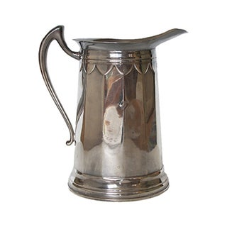Silver Scalloped Pitcher