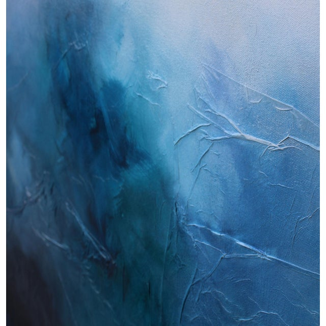 'Blue Bliss' Abstract Mixed Media Painting - Image 2 of 2