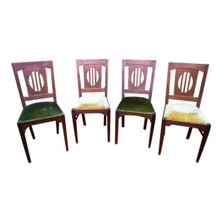 1930 Art Deco Chairs - Set of 4