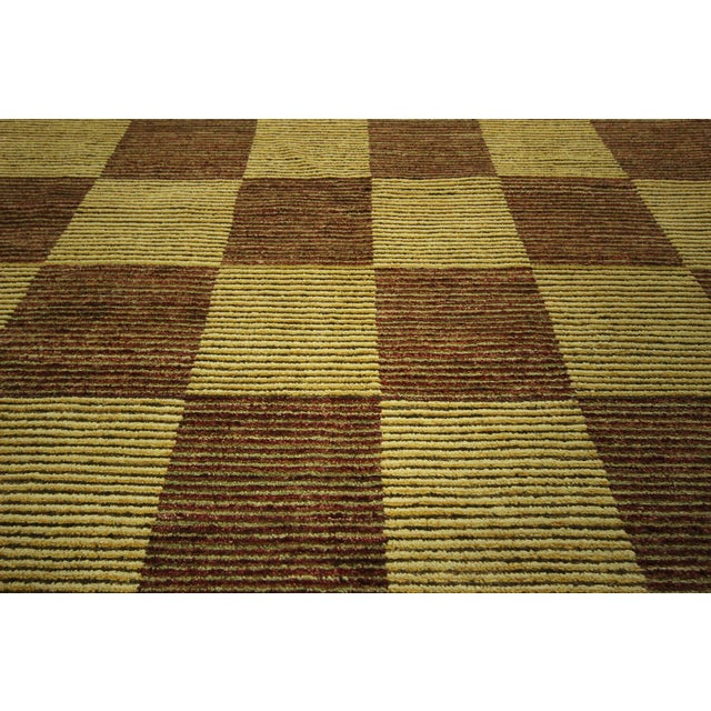 "Checkered Gabbeh Kashkuli Rug - 8'2"" x 10'6"" - Image 8 of 10"