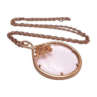 Magnifying Glass Pendant Necklace