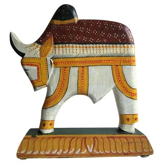 Hand Painted Nandi Bull Carving