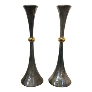 Dansk Two-Tone Candlesticks