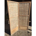 Image of Antique Capiz Shell Two-Panel Hinged Screen