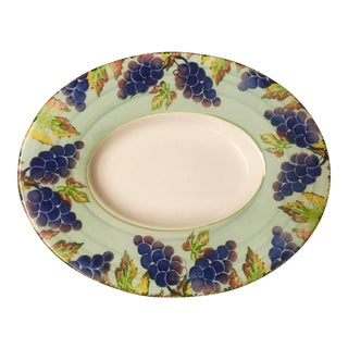 Italian Hand Decorated Ceramic Platter