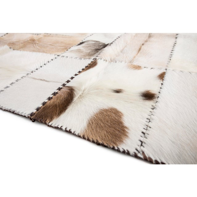 """Hand Stitched Goatskin Patchwork Area Rug - 5'1"""" x 8'1"""" - Image 5 of 9"""