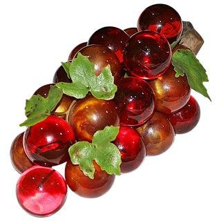 Mid-Century Lucite Grapes