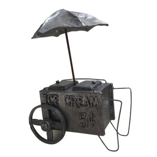 Pewter Handmade Ice Cream Cart