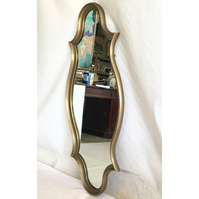 Gilt Wood Cartouche Form Framed Mirror - Image 4 of 7