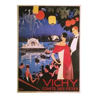 'Vichy Comite Des Fetes' Art Deco Poster