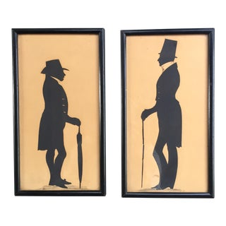 Antique Albert Roullier Gallery Framed Silhouettes - A Pair