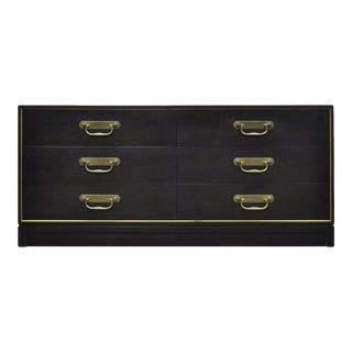 Vintage Henredon Mid-Century Modern Black Dresser Credenza