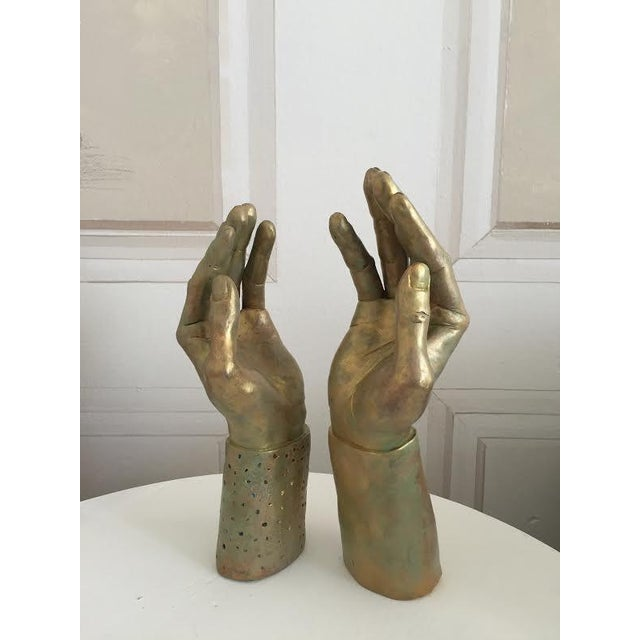 Sculptural Hand-Made Hands - Pair - Image 9 of 9