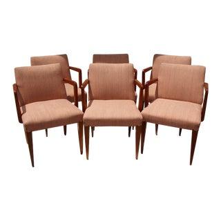 Wormley Dunbar Arm Chairs - Set of 6