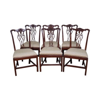 English Rosewood Chippendale Dining Chairs - Set of 6