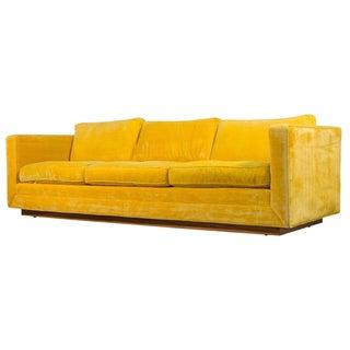 Milo Baughman Plinth Base Sofa
