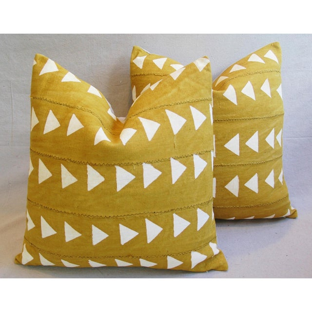 Boho Chic African Textile Pillows - A Pair - Image 2 of 10