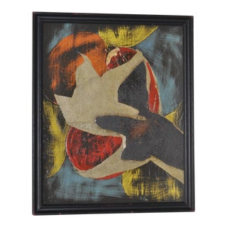 Maude Pestana Mid-Century Mixed Media Abstract