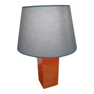 Orange Table Lamp