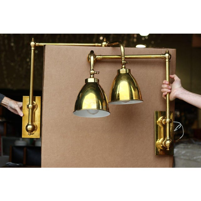 Wall Mounted Brass Reading Lamps : Brass Wall-Mounted Reading Lamps - A Pair Chairish