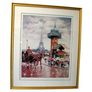 D'Iena Paris Signed Lithograph - Eiffel Tower