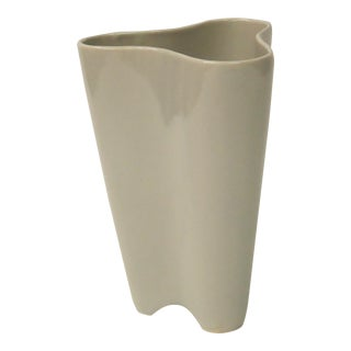 Large Modernist Light Grey Pottery Vase