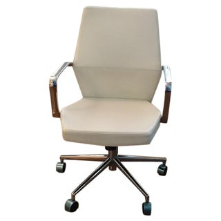 White & Chrome Office Chair