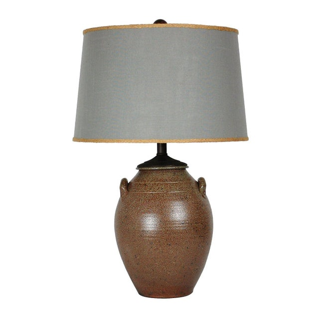Vintage Studio Pottery Lamp W/Shade - Image 1 of 8