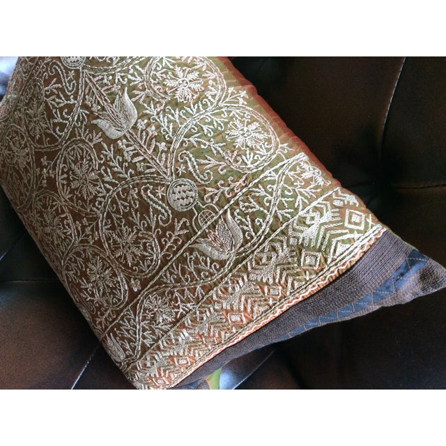 Luxury Silk Throw Pillows : Luxury Silk Embroidered Decorative Pillow Chairish
