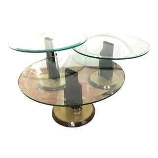 Sculptural Bases/Glass Top Side Tables/3