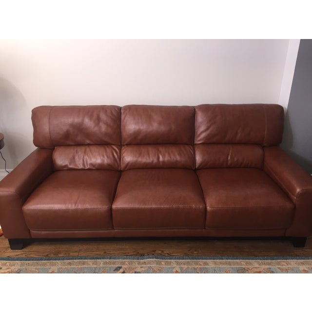 Brown Leather Couch - Image 3 of 4
