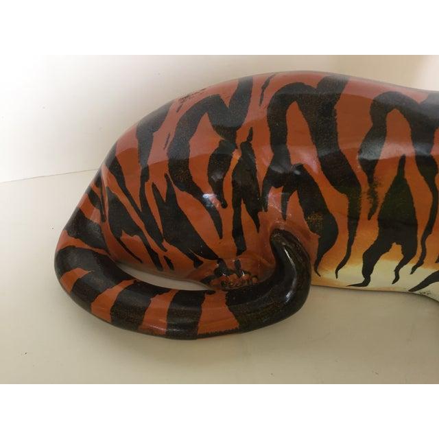 Image of Stunning Italian Ceramic Tiger