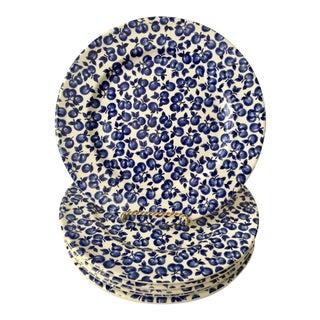Ironstone Blueberry Motif Plates - Set of 6