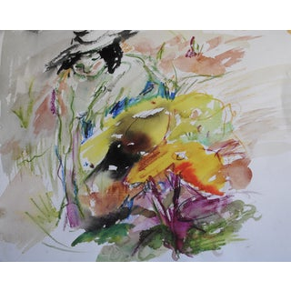 Expressionist Watercolor Painting by Karen Zullo Sherr